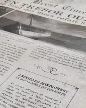 énigme de vieux journal
