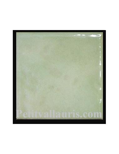 carreau emaille vert clair uni 10 x 10 cm assortit a nos decors