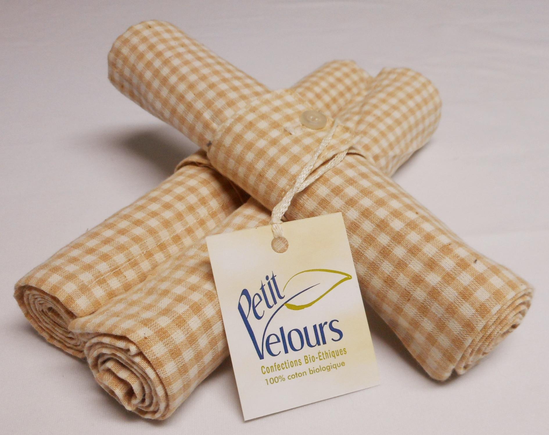 serviettes de table 100 coton biologique petit velours. Black Bedroom Furniture Sets. Home Design Ideas