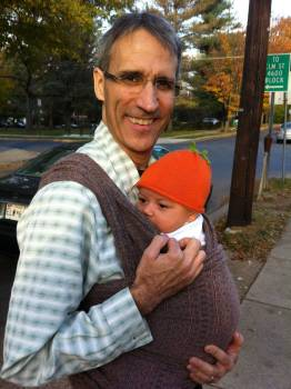 Papa has been happy to carry baby too.