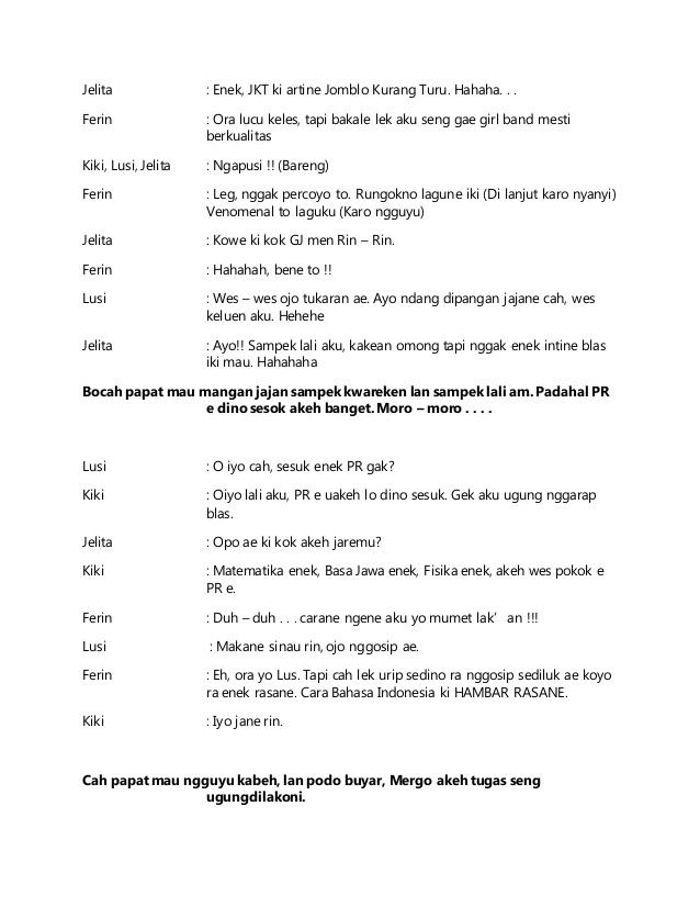 Drama Bahasa Jawa 5 Orang : drama, bahasa, orang, Drama, Bahasa, Orang, Singkat, Petlasopa