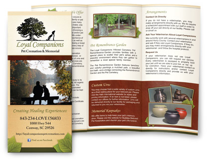 Funeral Home Brochure Ideal Vistalist Co