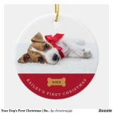 Dog First Christmas Custom Ornaments