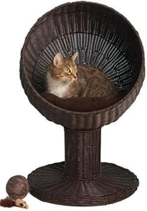 refined-feline-kitty-ball-bed
