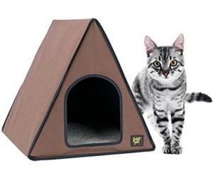 frontpet-40-watt-canvas-heated-a-frame-cat-house