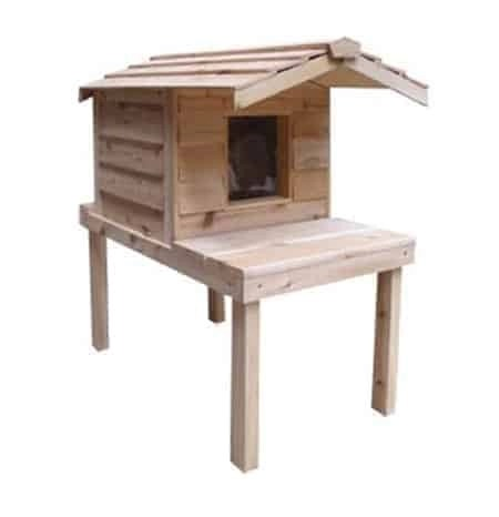 Insulated Cedar Outdoor Cat House