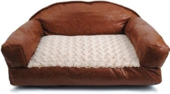 Dallas Manufacturing Co Brinkmann Faux Leather Sofa Bed