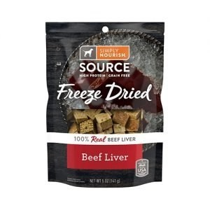 Simply Nourish Beef Liver Grain Free Freeze Dried Dog Treats