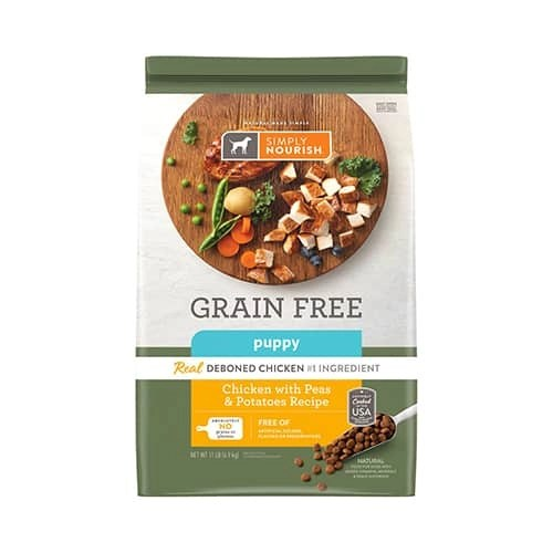 Simply Nourish Grain Free Chicken With Peas Potatoes Recipe Puppy Dry Dog Food 1