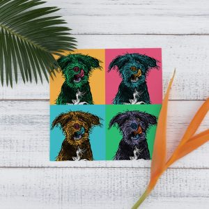 Set of 4 pet portrait mockup
