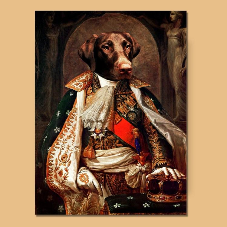 napoleon custom pet portrait