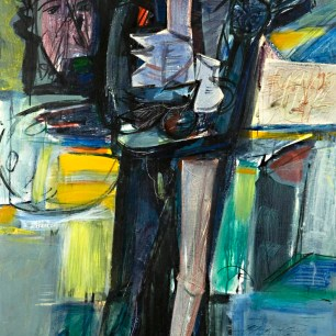 The Painter and His World, 1983, acrylic on canvas, 140 X 80 | Private collection
