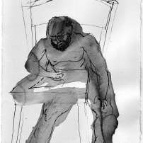Memoirs, Aging of the Man, Book Illustration Series, 2007, Japanese Ink on paper, A4| 1500 EUR