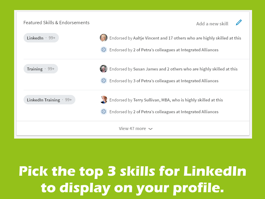 3 Skills in full view on LinkedIn; happy with yours?
