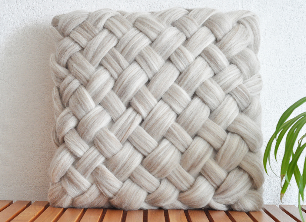 weaving without a loom - cushion5