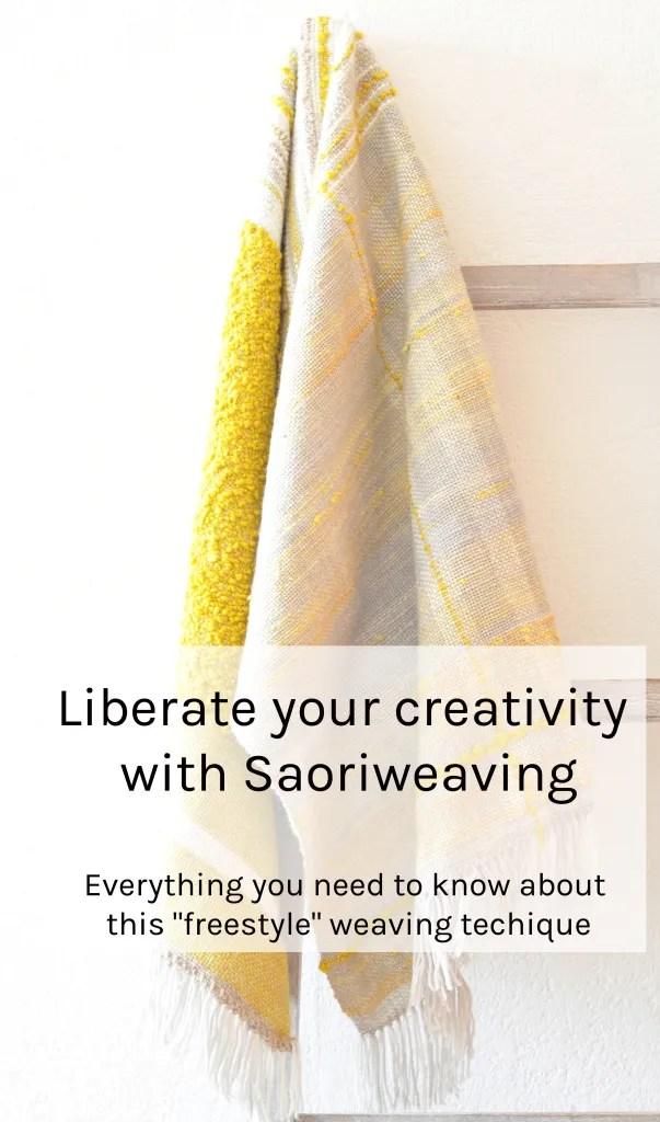 Saoriweaving shawl