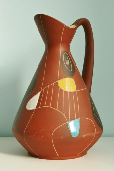 Bay vase, design Bodo Mans 1950s, decor Kongo