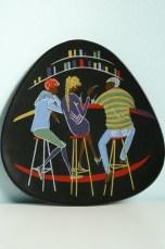 Ü-Keramik wall plate Teenager series design by Ursula Schonhaber 1960