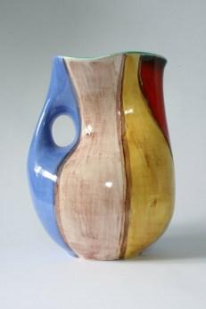 SMF Schramberg Majolika Fabrik vase design by Elfi Stadler, decor: Mexico (1956-58)