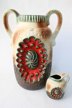 Dümler & Breiden floor vase and small version resp. form number pm