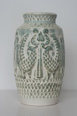 Bay vase, peacock decor, form number 960-25