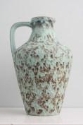 Bay vase with light blue drip glaze, form number 218-40
