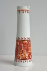 Wallendorf porcelain pitcher with decor of East Berlin buildings
