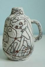 Ruscha small jug vase decor Filigran by Adele Bolz 1960-62