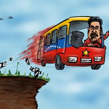 Этот автобус в огне, мадуро не на что больше жать. Этот автобус в огне ему, скоро в россию бежать…