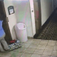 Dog saved after leash caught in elevator door