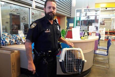 Officers rescues abandoned dog