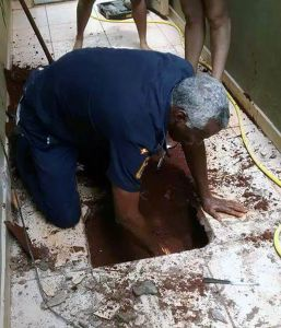 pug stuck in pipe 3