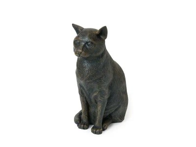 Sitting Cat Urn – Bronze