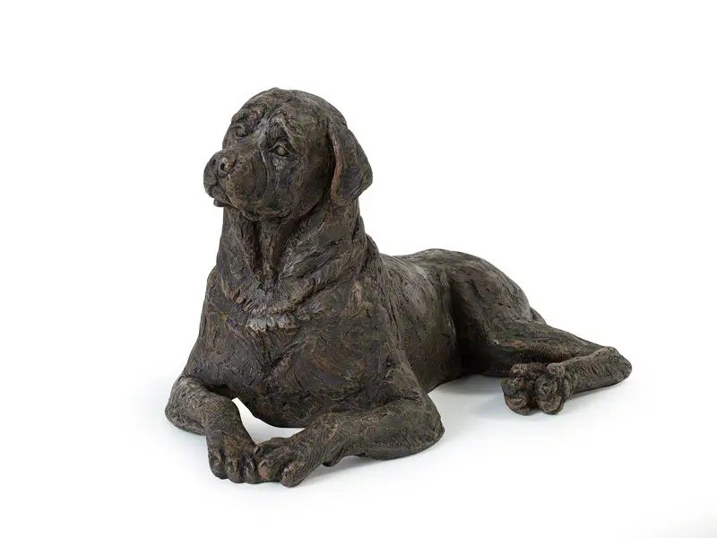 Beautiful figurine Rottweiler dog urns for pet dog ashes. Can be personalised.