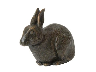 Rabbit Urn – Bronze