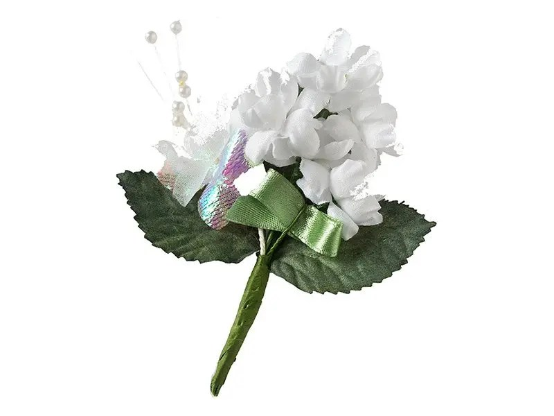 Artificial silk floral spray to enhance or decorate your pet's urn or ashes scattering container