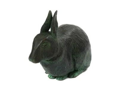 Rabbit Urn – Aged Bronze