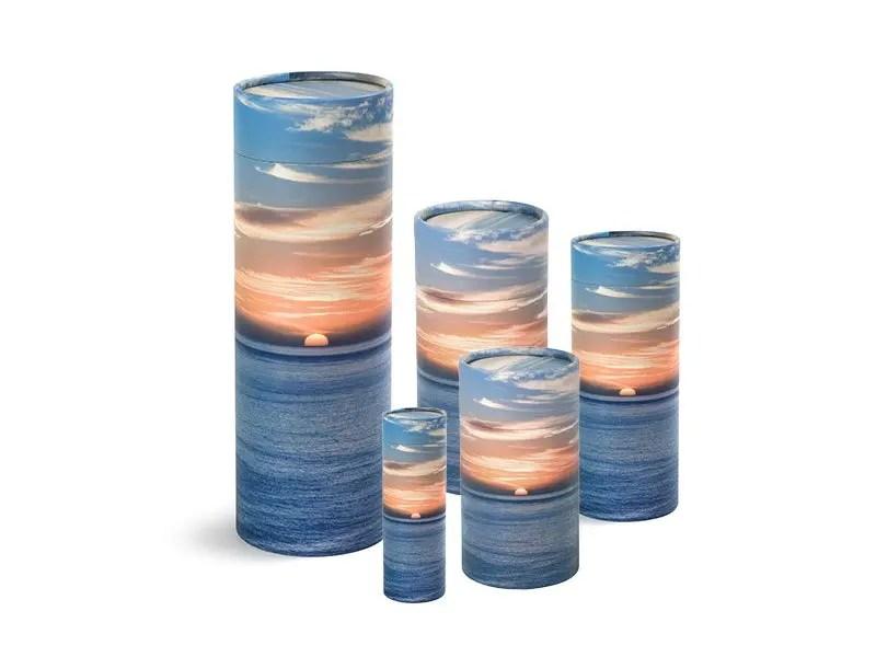 Scatter Tube Ocean Sunset Design