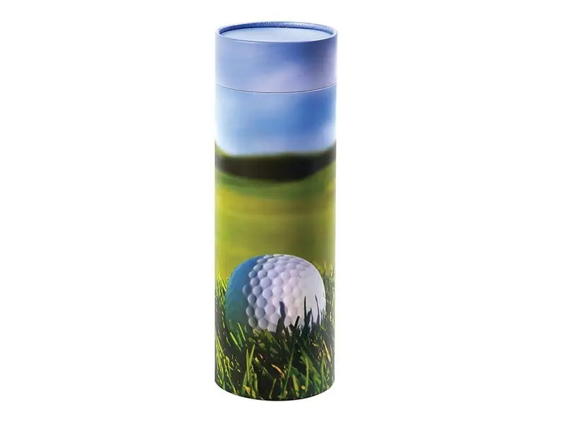 Scatter Tube ashes scattering container in Golf design - x-large size