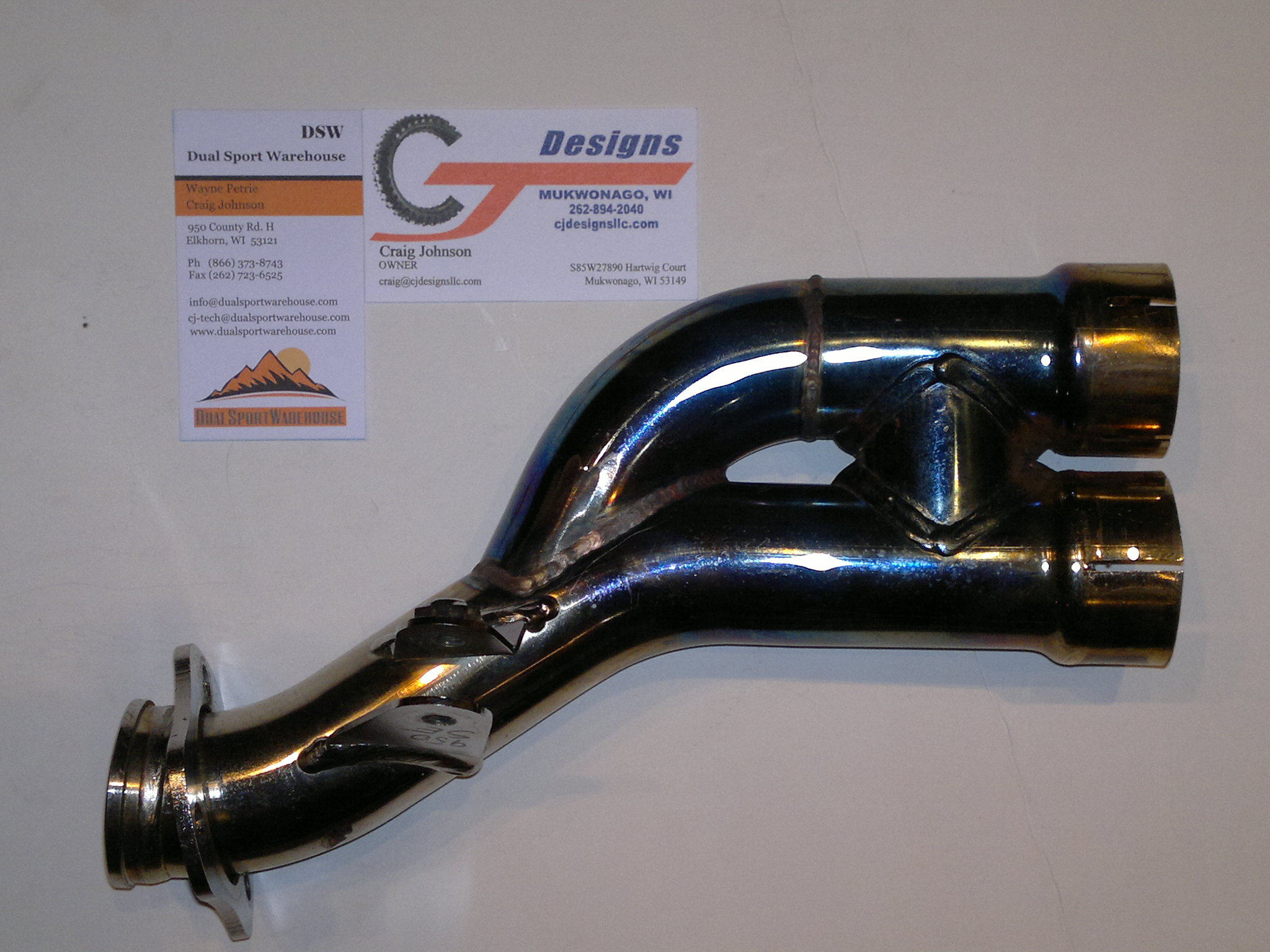 ktm 950 990 2 into 1 exhaust dual