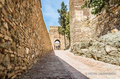 Alcazaba -linnan muurit, Malaga