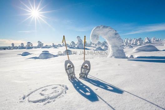 Riisitunturi lumikenkäily valokuvaaja Petri Jauhiainen