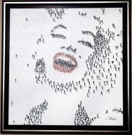 "Marilyn-Laughing, Medium: Mixed Media on Canvas Canvas Size: 36"" x 36"" Framed Size: 42.5"" x 42.5"" Artist: Craig Alan"