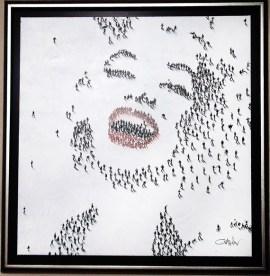 "Marilyn-Laughing, Medium: Mixed Media on Canvas Canvas Size: 36"" x 36"" Framed Size: 42.5"" x 42.5"" Artist: Craig Alan"