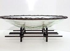 "Round Lumin Bowl, Medium: Glass, and Bronze Size: 6.5"" x 17"" x 17"" Artist: Scott Amrhein"