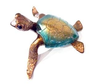 "Lagoon, Medium: Bronze Size: 10"" x 7.5"" x 5.25"" Edition: 250 Catalog: #BT8 Artist: Chris Barela"