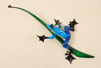 "Blue Bayou, Medium: Bronze Catalog: BF106 Size: 8.5"" x 17"" x 4"" Artist: Frogman"