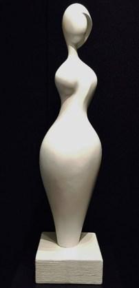 "Gaia, Medium: Bondo Size: 41"" x 9.25"" x 9.25"" Artist: Paul Braslow"