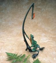 "Dinner for Two, Medium: Bronze Catalog: BF37 Size: 18"" x 8.5"" x 6"" Artist: Frogman"