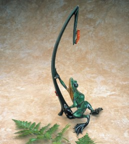 "Dinner for Two, Medium: Bronze Catalog: BF37 Size: 18"" x 8.5"" x 6"" Artist: Frogman"